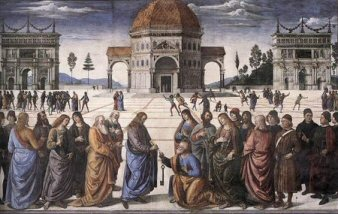 Pietro Perugino, Giving the Keys to St. Peter